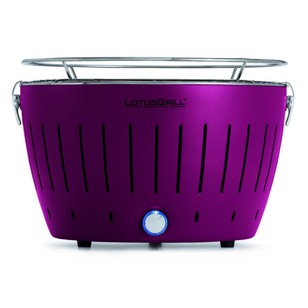 LotusGrill Classic Purple vč. tašky + 1 sada baterií + 1kg uhlí + 1 gel