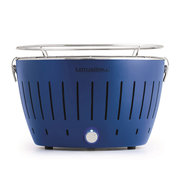 LotusGrill Classic Blue vč. tašky + 1 sada baterií + 1kg uhlí + 1 gel