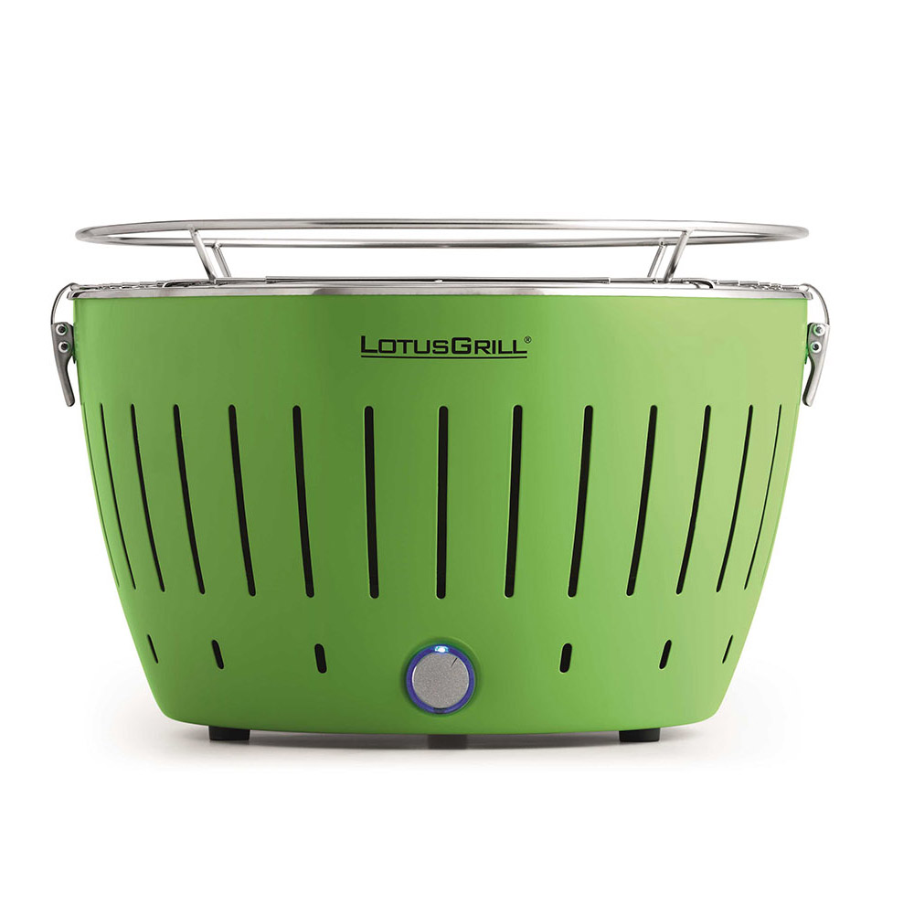 LotusGrill Classic Green vč. tašky + 1 sada baterií + 1kg uhlí + 1 gel