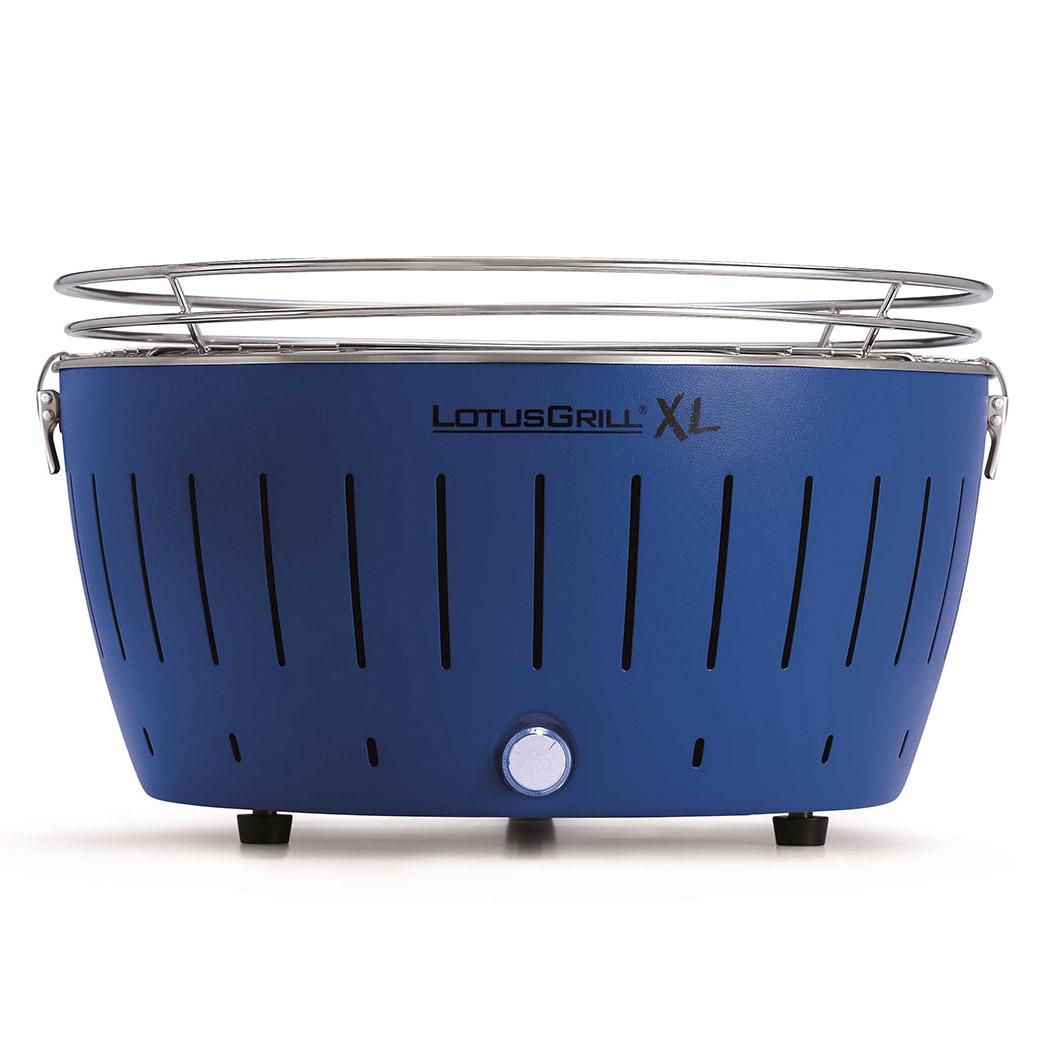 LotusGrill XL Blue vč. tašky + 1 sada baterií + 1kg uhlí + 1 gel