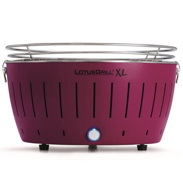 LotusGrill XL Purple vč. tašky + 1 sada baterií + 1kg uhlí + 1 gel