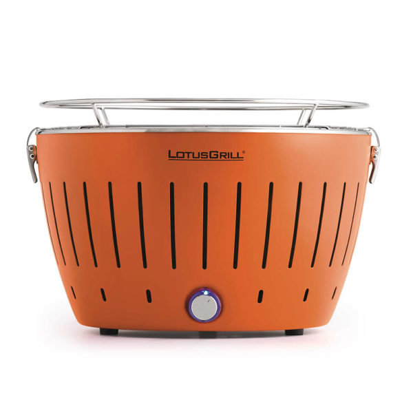 LotusGrill Classic Orange vč. tašky + 1 sada baterií + 1kg uhlí + 1 gel
